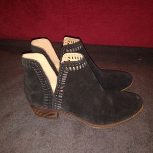 Lucky Brand Womens Bustina Suede Booties sz 7.5M